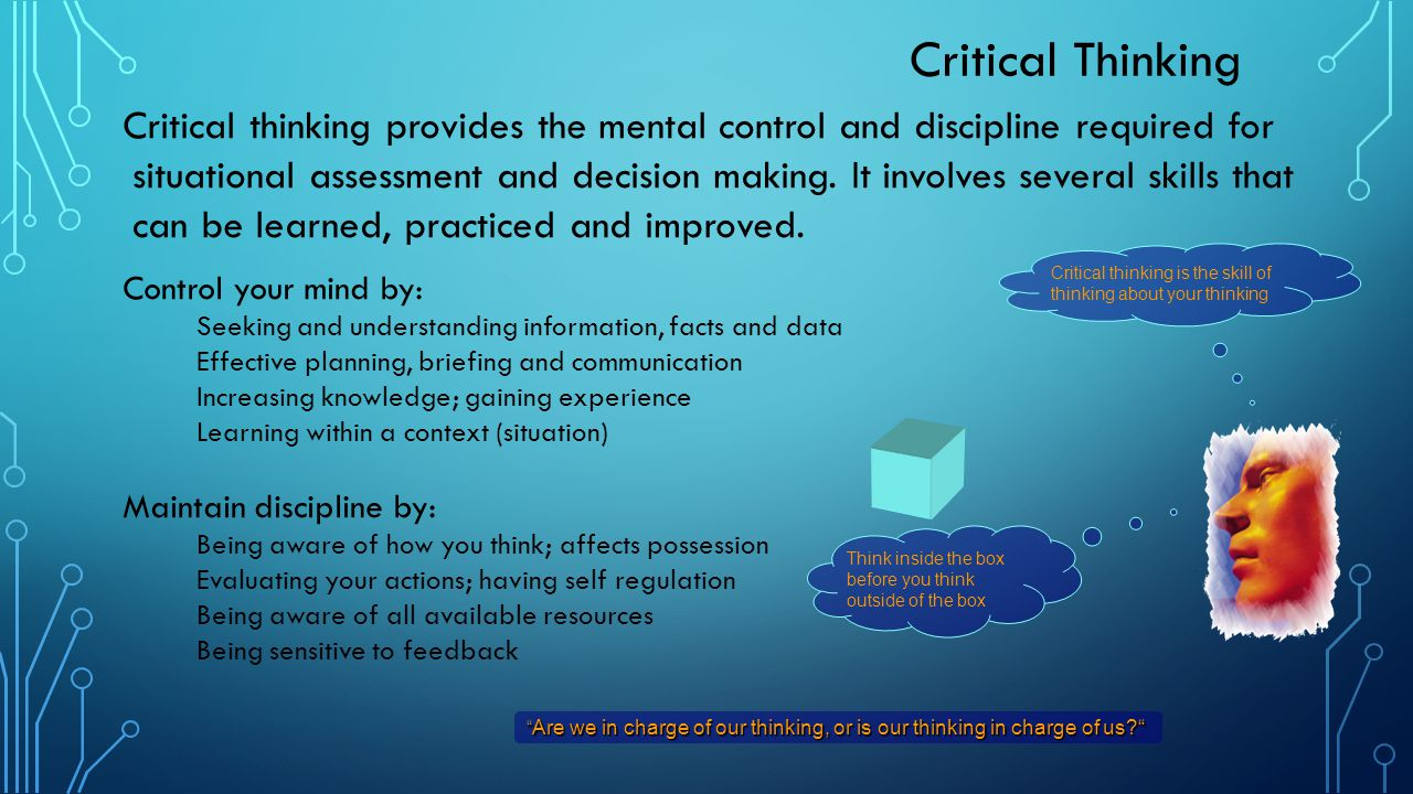 situational decision making Situational intelligence melds it, ot and xt to improve decision making february 4, 2014  manual collection and correlation of data across systems is error-prone and making a wrong decision, or being unable to make a timely decision, can be extremely costly  situational intelligence is playing a key role in the deployment of smart grids.