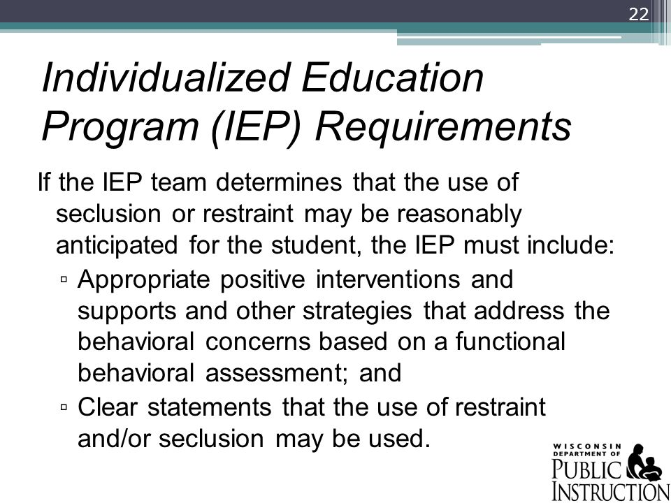 Individualized Education Program (IEP) Requirements