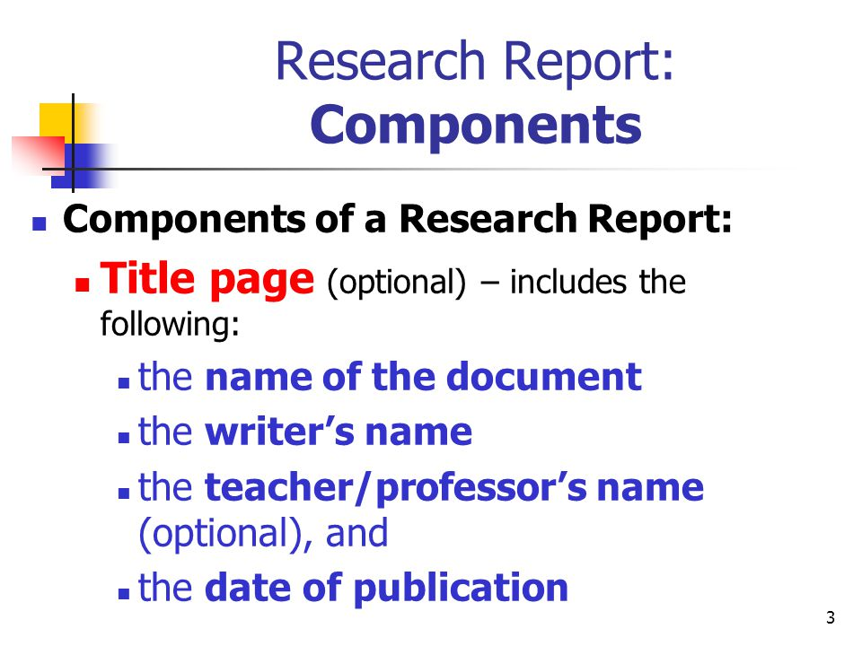 research report title page