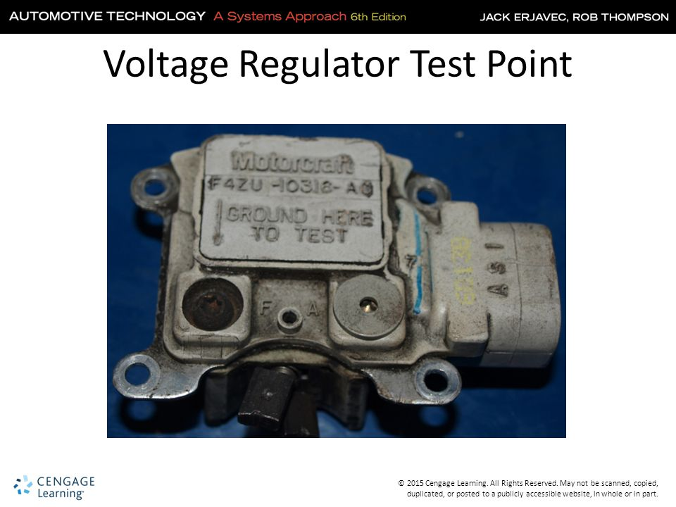 Car Voltage Regulator Testers : Chapter charging systems ppt download
