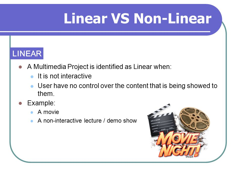 Linear VS Non-Linear LINEAR