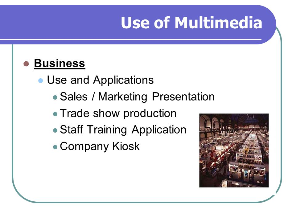 Use of Multimedia Business Use and Applications