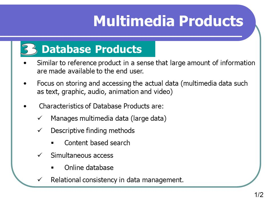 Multimedia Products 3 Database Products