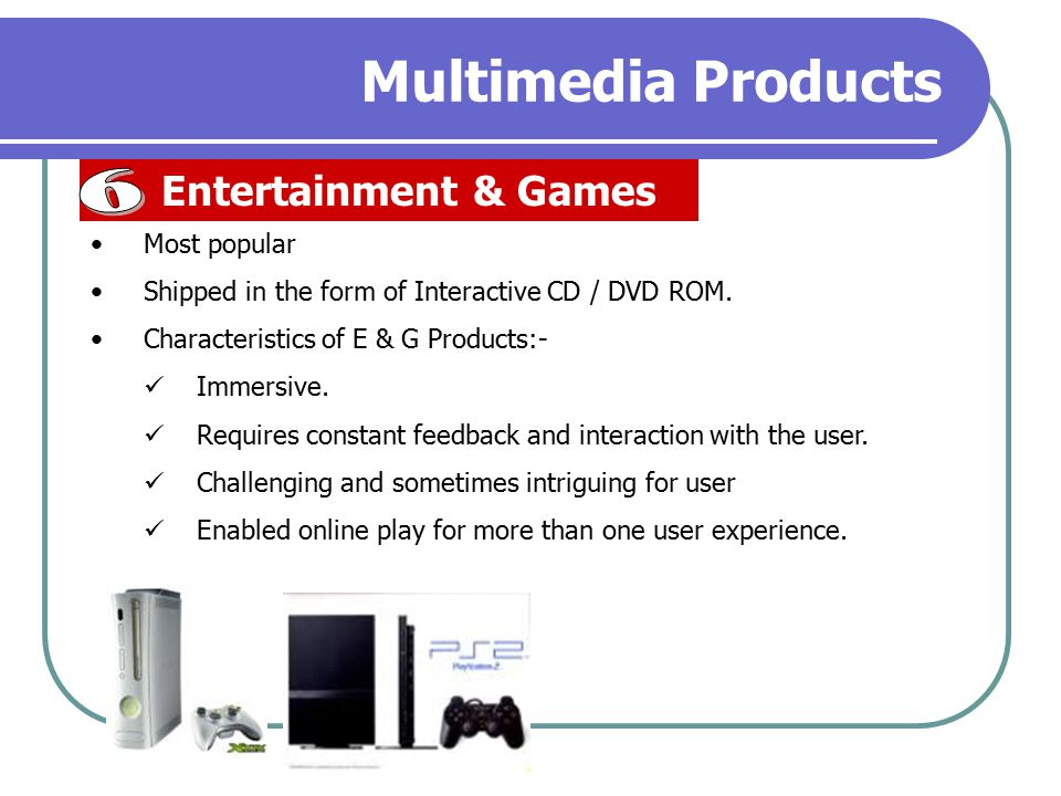 Multimedia Products 6 Entertainment & Games Most popular