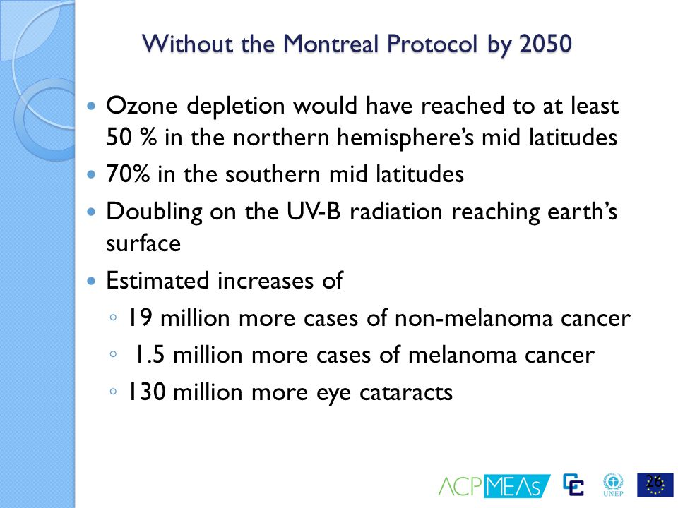 the montreal protocol Montreal protocol on substances that deplete the ozone layer - an element of the body of un documents for earth stewardship and international decades for a culture of.