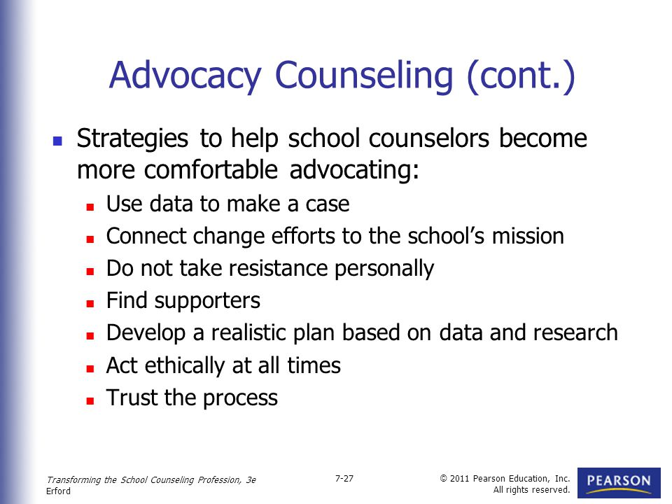 Professional Counseling Excellence through Leadership and Advocacy.