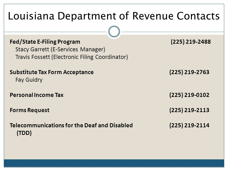Louisiana Department Of Revenue - ppt download