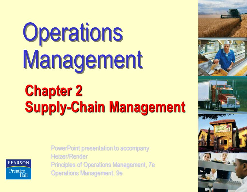 the chapter nine of operation management
