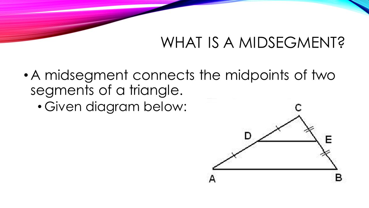 Worksheets Special Segments In Triangles Worksheet relationships within triangles ppt video online download a midsegment connects the midpoints of two segments triangle