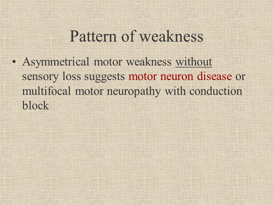 Motor Neuropathy With Conduction Block
