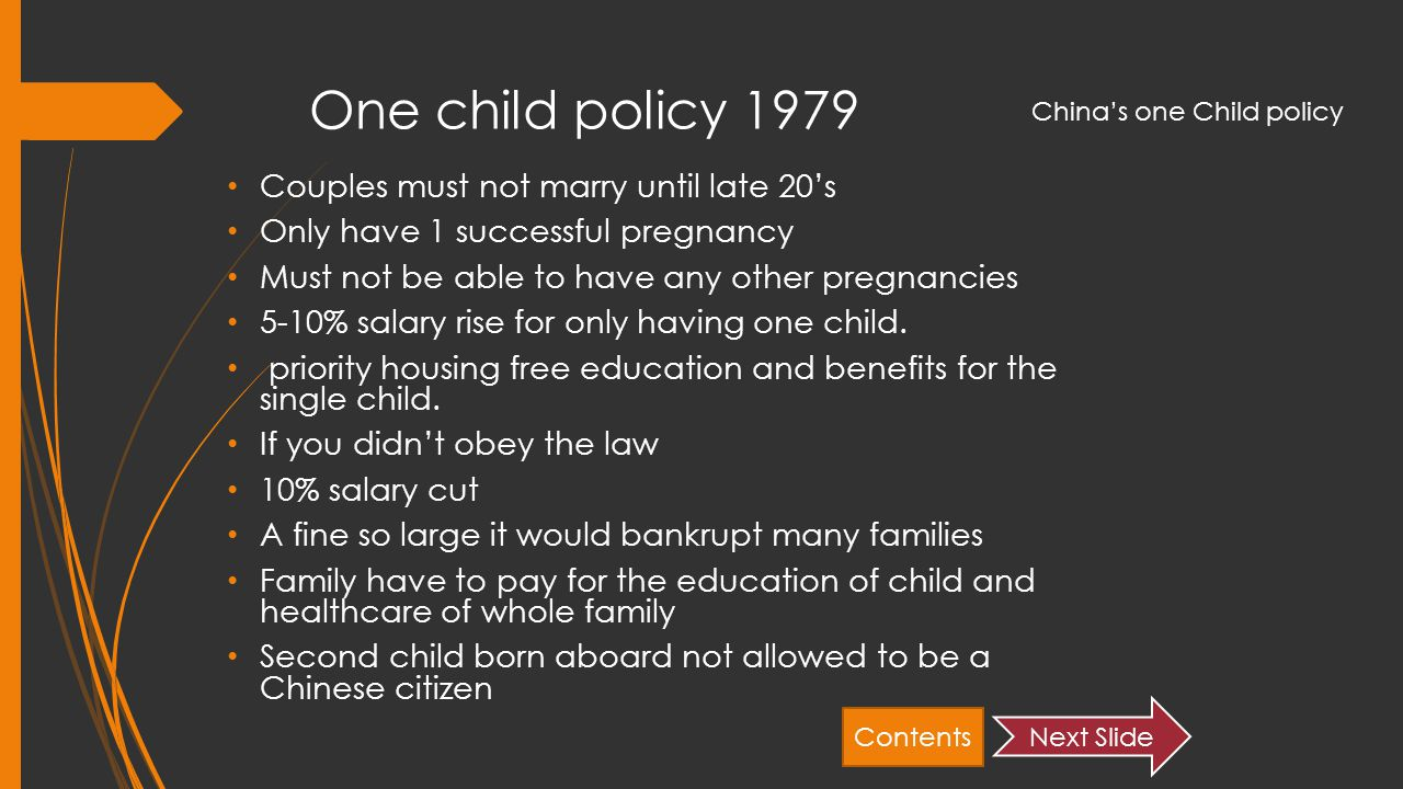 Forbes one child policy essay