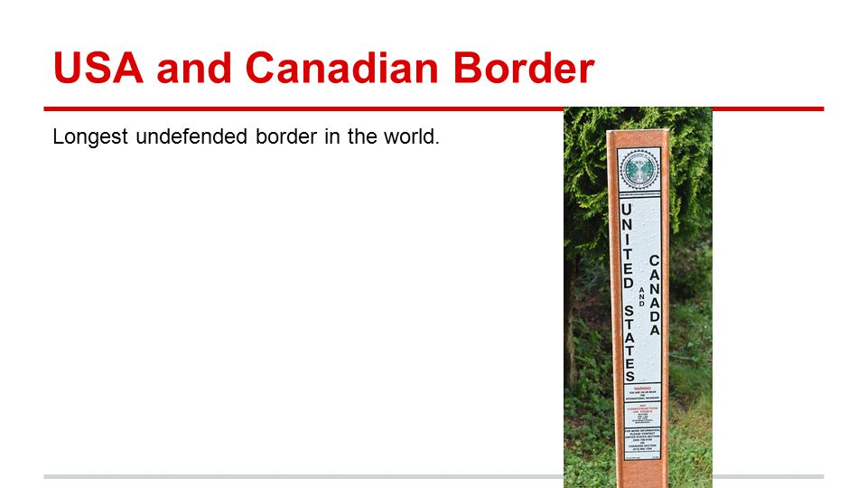 USA and Canadian Border