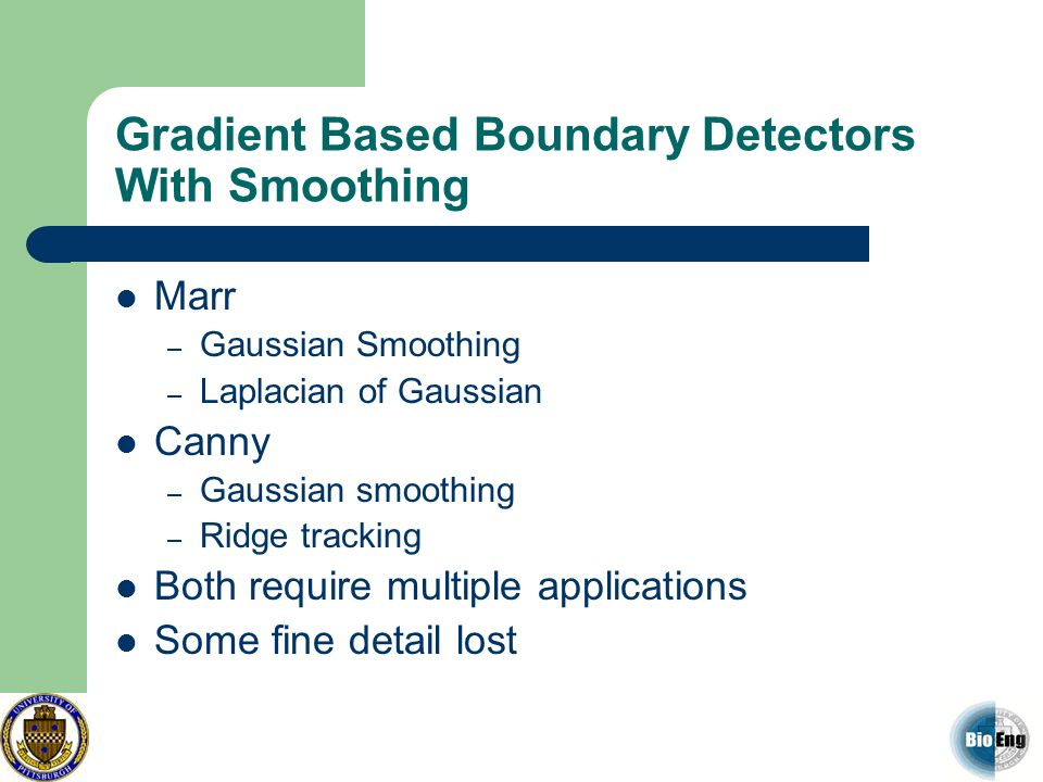 Gradient Based Boundary Detectors With Smoothing