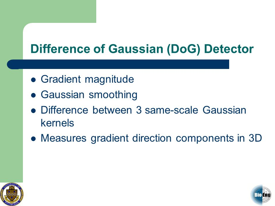 Difference of Gaussian (DoG) Detector