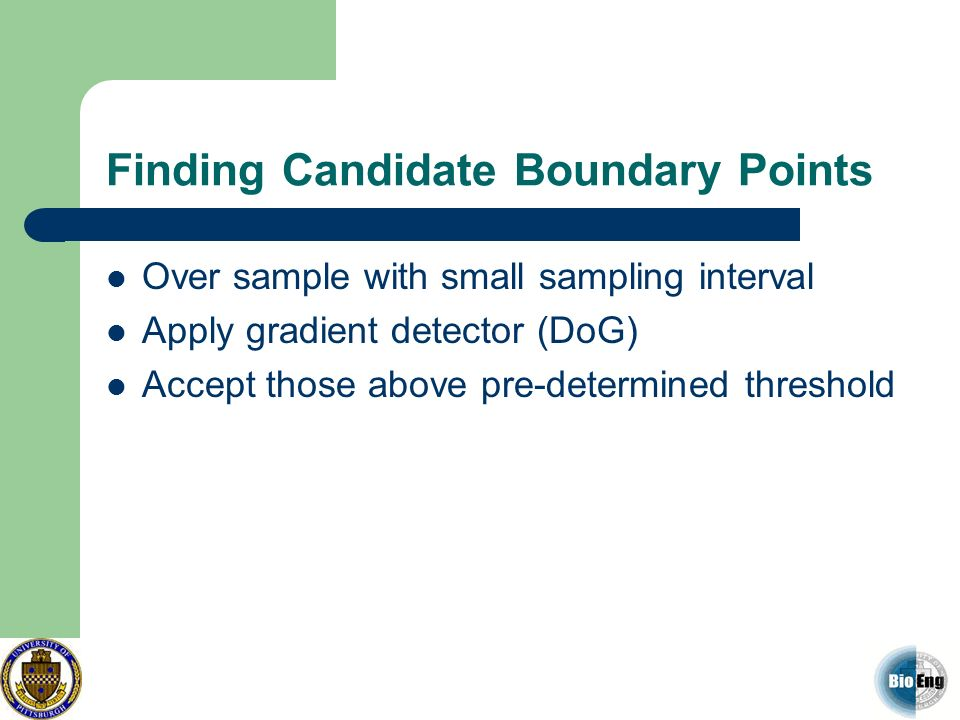Finding Candidate Boundary Points