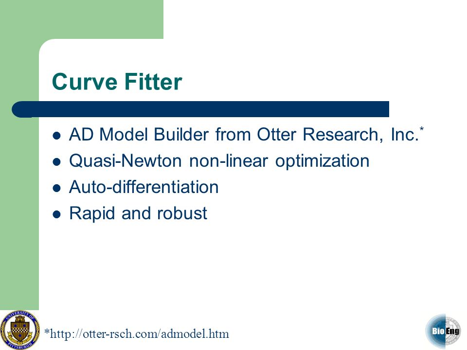 Curve Fitter AD Model Builder from Otter Research, Inc.*