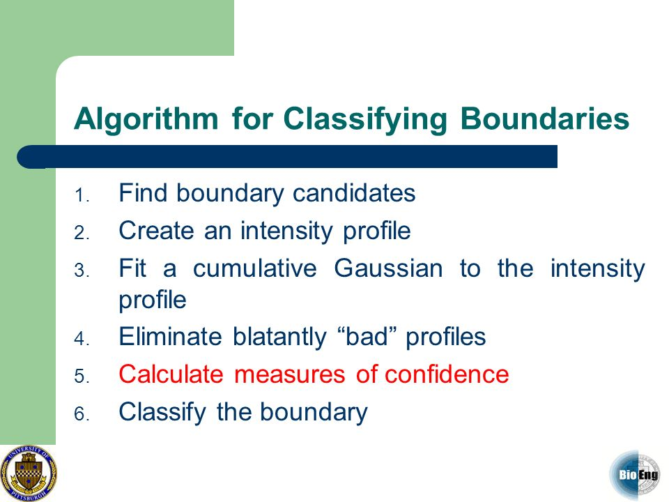 Algorithm for Classifying Boundaries