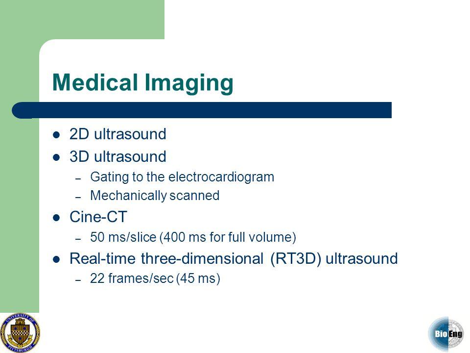 Medical Imaging 2D ultrasound 3D ultrasound Cine-CT