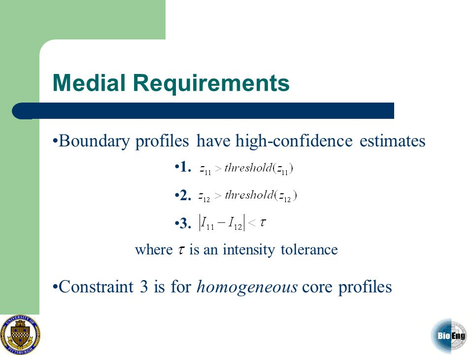 Medial Requirements Boundary profiles have high-confidence estimates