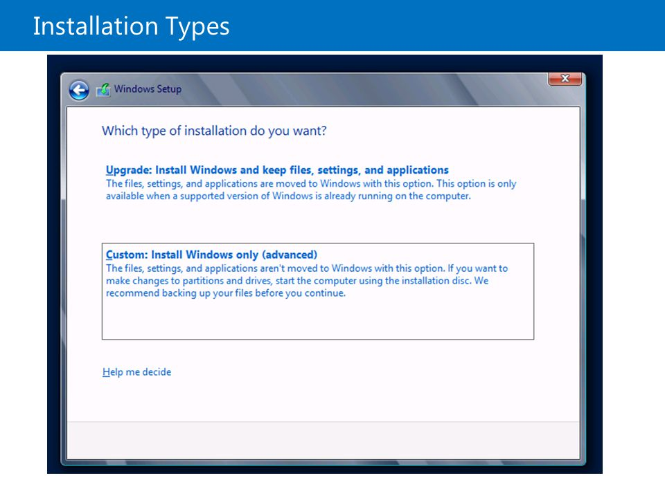 20410B Installation Types 1: Deploying and Managing Windows Server 2012