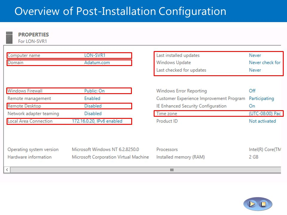 Overview of Post-Installation Configuration