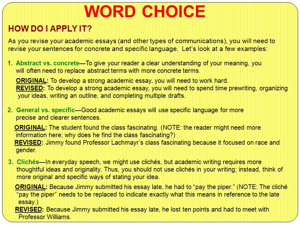 Word Choice And You: Better Words For Your Writing