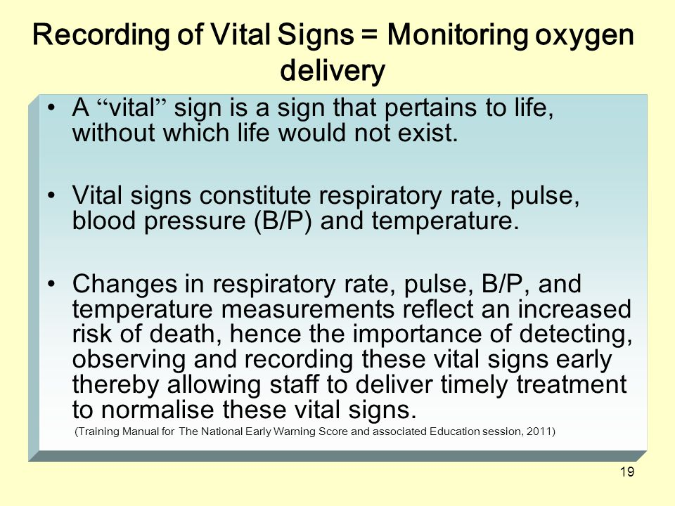 importance of vital signs Also, vital signs are a way of understanding the magnitude of a problem and also how well the body is dealing with any kind of stressors that are going on in other words, healing from a surgical situation or a patient that's in a trauma situation or any other shock situation where the body is compensating in some way to maintain homeostasis.