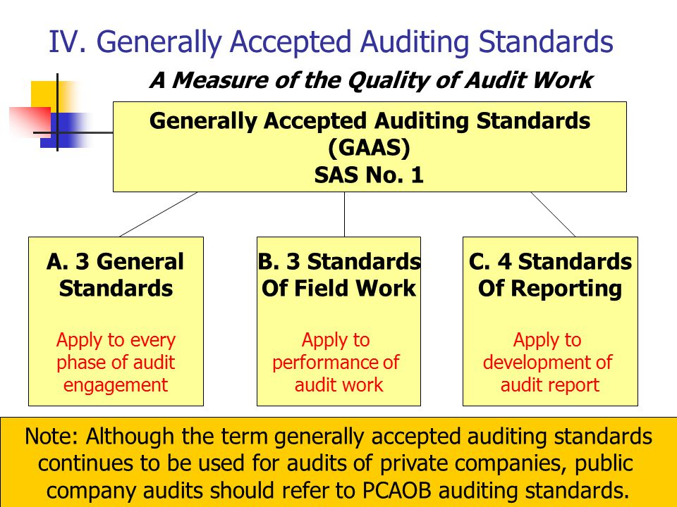 Generally Accepted Auditing Standards  Private Company Audit Report