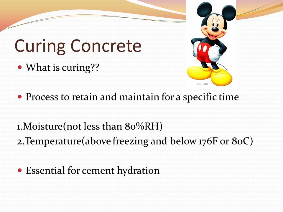 Curing concrete ppt download for What happens to concrete if it freezes