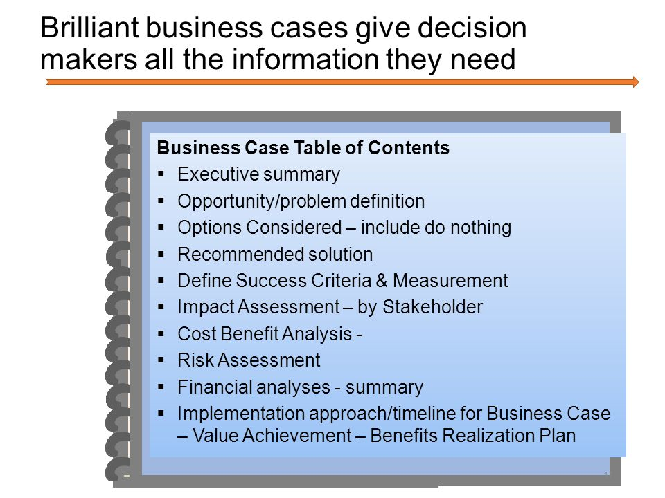 Building a Compelling Business Case - ppt download
