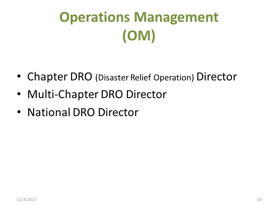 Operations Management (OM)
