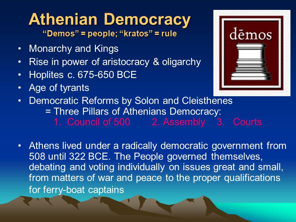 athenian democracy and present democracy