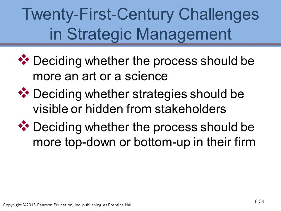the challenges of strategic management In order to successfully deliver, those in charge of strategic planning and  management must face the challenges of rethinking and streamlining of  institutional.