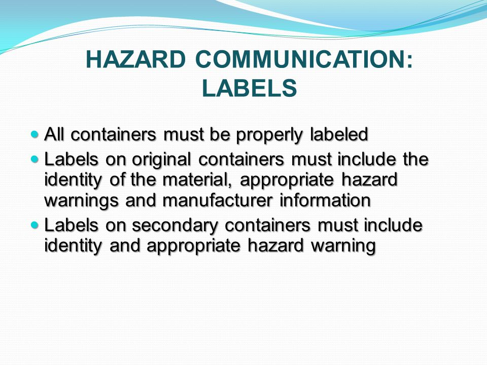 hazard communication hazardous materials safety With hazcom labels include