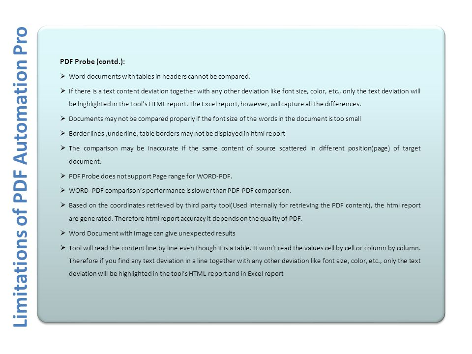 probe report pdf