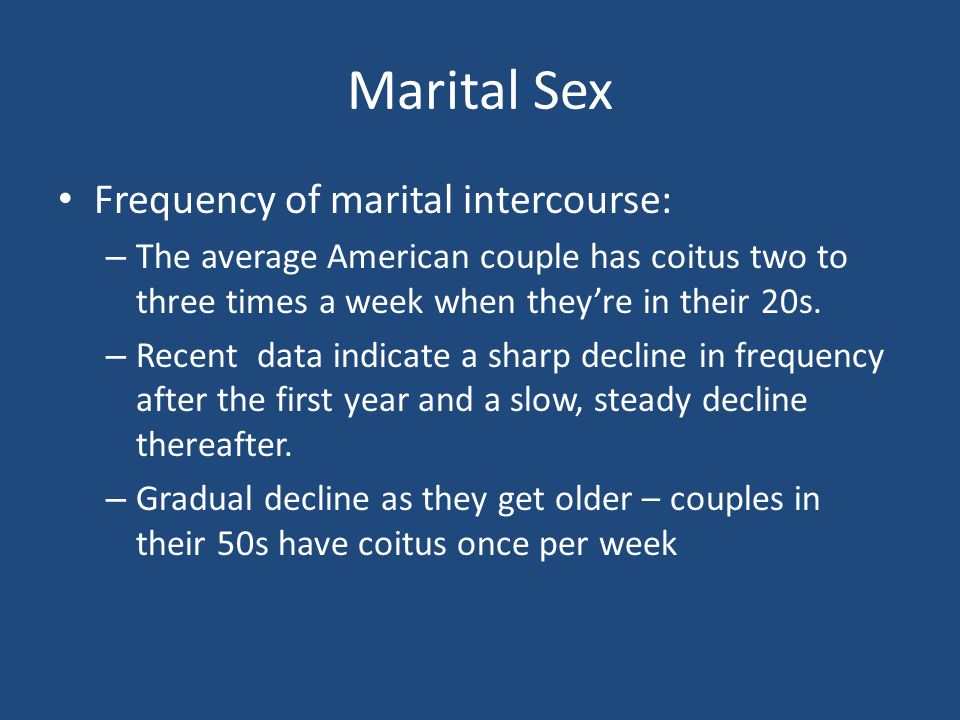 How Much Sex Does the Average Couple Have? -