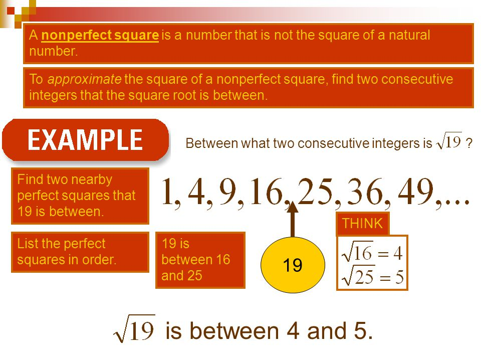 A nonperfect square is a number that is not the square of a natural number.