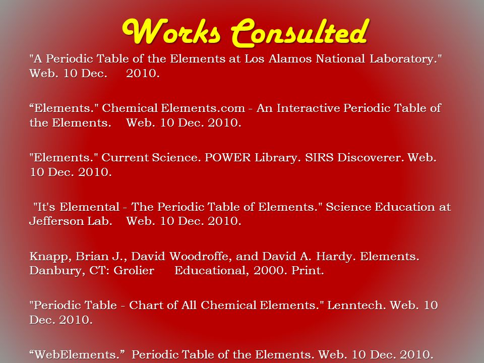 Periodic table of elements project science the periodic table of 8th periodic table sqworl urtaz Gallery