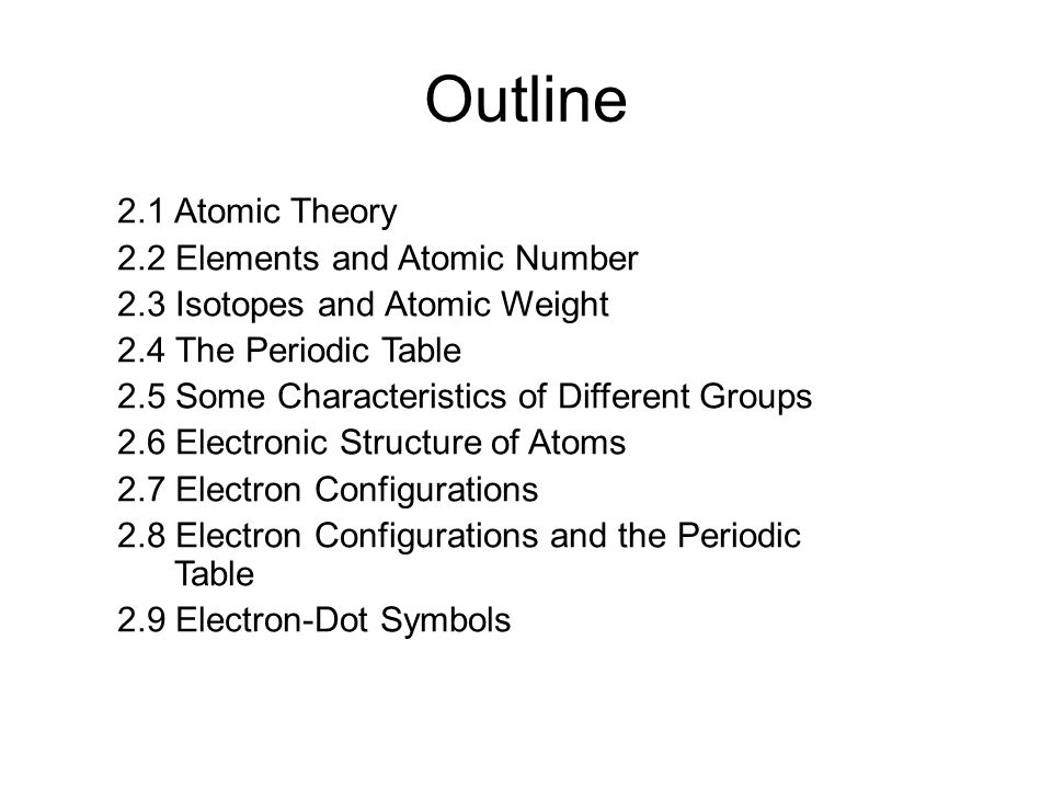 Atoms and the periodic table ppt download configurations and the periodic table 29 electron dot symbols outline 21 atomic theory 22 elements and atomic number urtaz Gallery