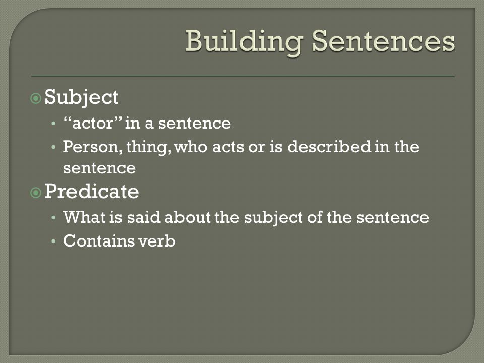 compound subject simple predicate example sentences