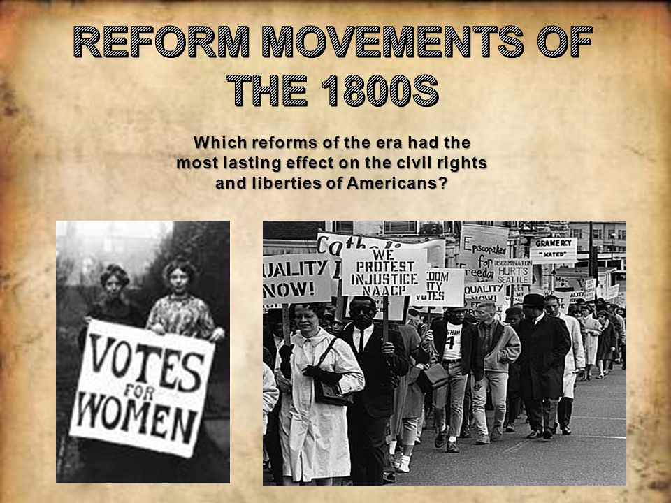 reform movements and the expansion of Hey in class we have to analyze the dbq  reform movements in the united states sought to expand democratic ideals assess the validity of this statement period.