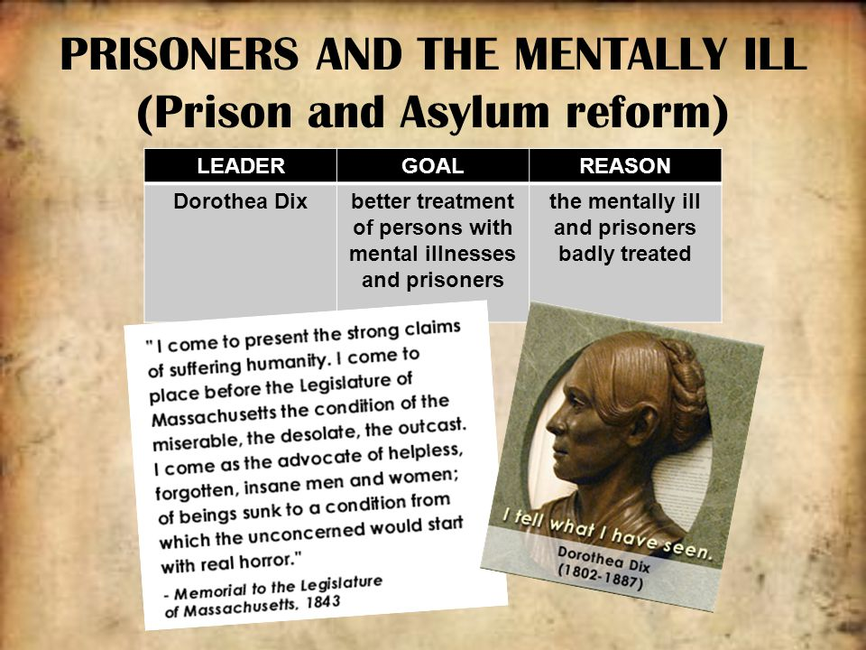 the mentally ill and the prison Considers the additional stress of mentally ill prisoners and how this affects inmate mental illness in prison: inmate rehabilitation &correctional off.
