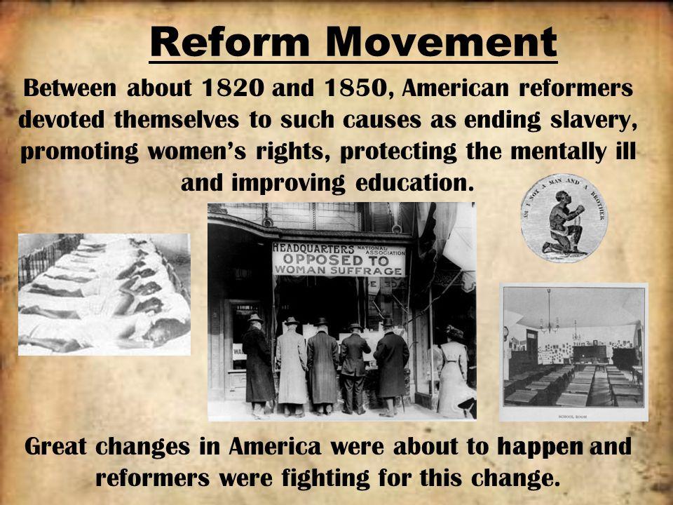 u.s. reform movements essay