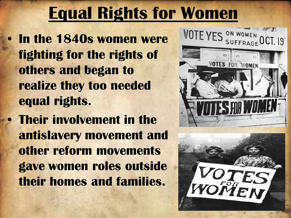 fighting for equal rights