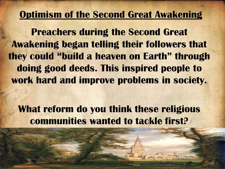 the different social movements during the second great awakening Deaf people, the deaf community, deafness, second great awakening, sign  language,  great awakening refers to a conglomeration of radically different  movements,  revivals transformed the social and religious landscape of  connecticut,.
