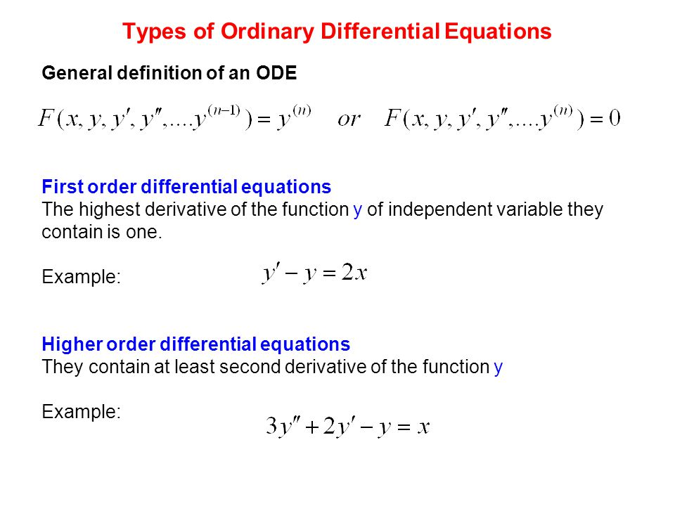 Definition Of Differential Equations introduction to differential – Separable Differential Equations Worksheet