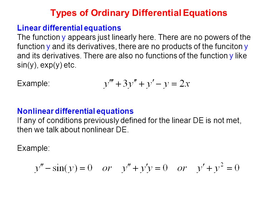 Lecture 2 Differential equations - ppt video online download