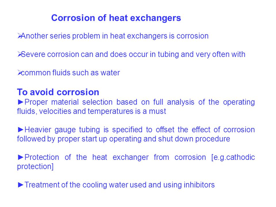corrosion in heat exchangers essay Corrosivity map of north america the corrosion severity in various regions of america can vary greatly depending on a multitude of factors while accelerated.