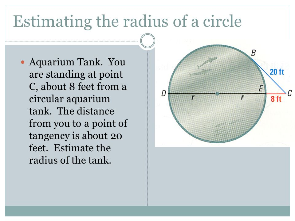Estimating the radius of a circle
