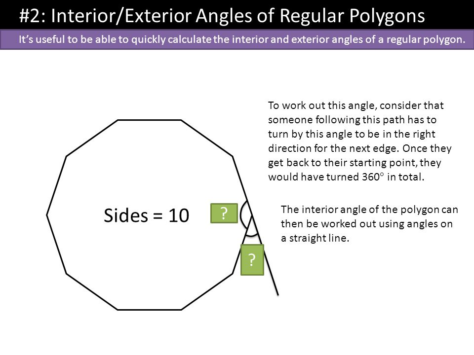 Dr j frost topic 1 geometry dr j frost last modified - How to work out an exterior angle ...